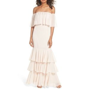 WAYF Off the Shoulder Gown Blush - Bridesmaid